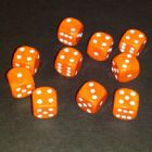 12mm Opaque Spot Dice - Orange